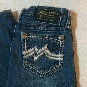 "Miss Me Girls Fancy Straght Jeans sz 14  x 30"""